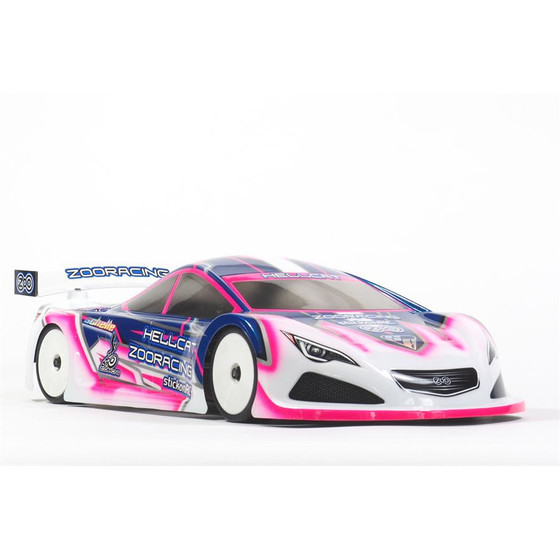 HellCat 1:10 Touring Car Clear Body - 0.5mm LIGHTWEIGHT