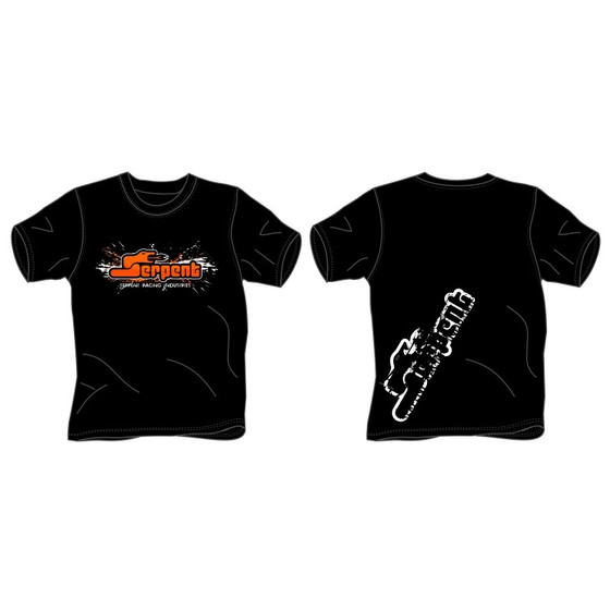 T-shirt kids Serpent splash black (XL)